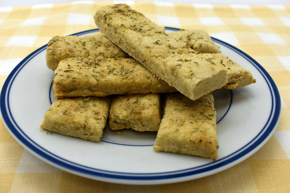 Make garlic and rosemary breadsticks with Bosquet Gluten-Free Pizza Crust Mix