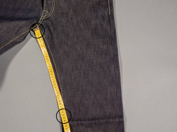 how to measure a jeans knee 1