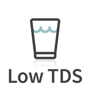 Icon showing low TDS water