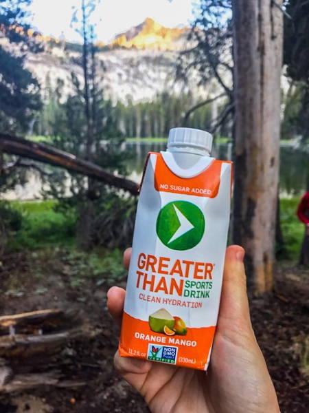 greater than sports drink clean hydration orange mango flavor