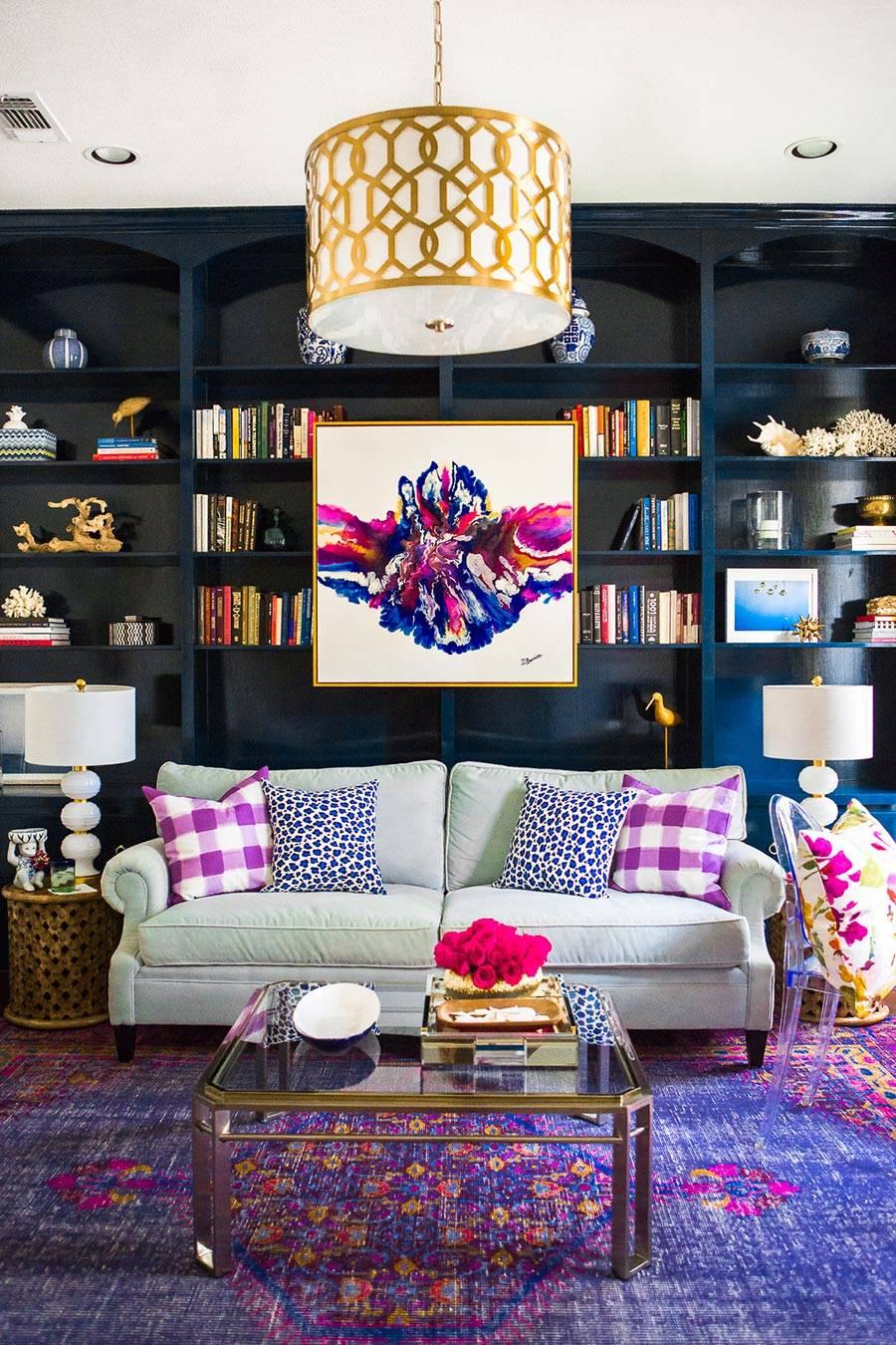 Crystorama living room lifestyle pendant #2266-AG