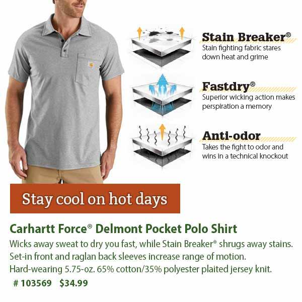 Carhartt Force Delmont Pocket Polo Shirt: $34.99