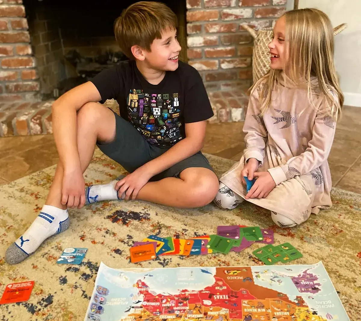 kid map poster geography activity