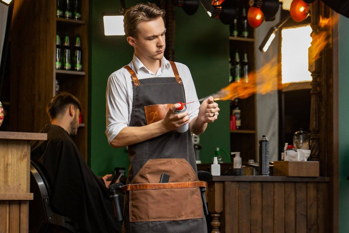 heat resistant barber apron