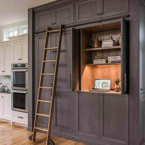 Storage ladder used in kitchen