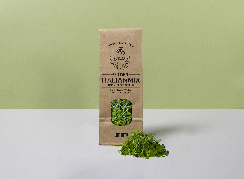 Gesunder Umami Italianmix with Microgreens aus einer lokalen Urban Farm in Zürich, perfekt für Pizza und Pasta
