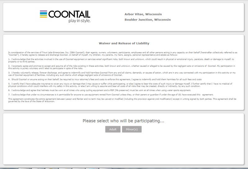 coontail rental release