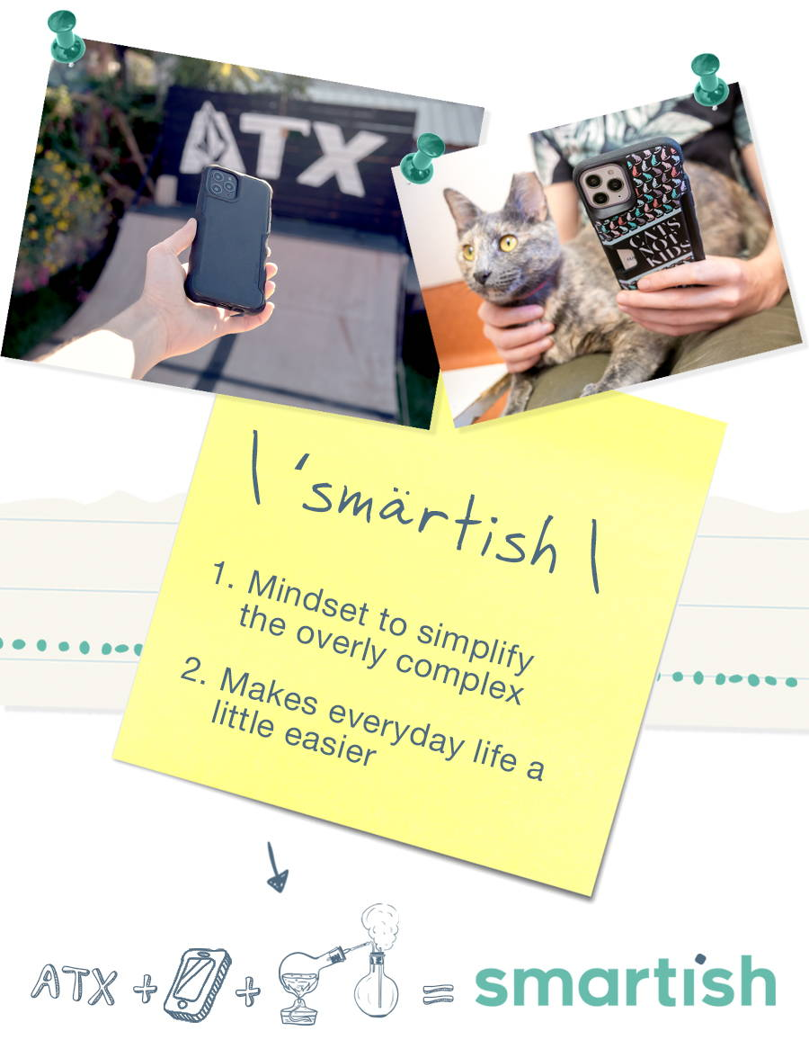 Smartish: 1. Mindset to simplify the overly complex; 2. Makes everyday life a little easier