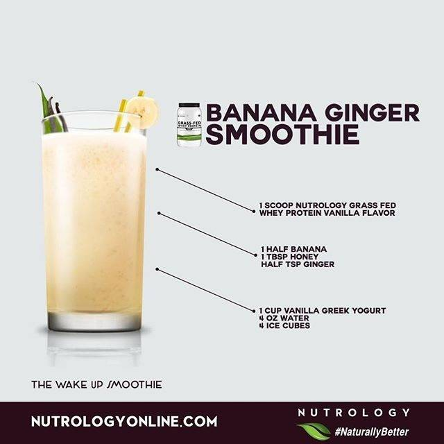 Nutrology Banana Ginger Smoothie Recipe