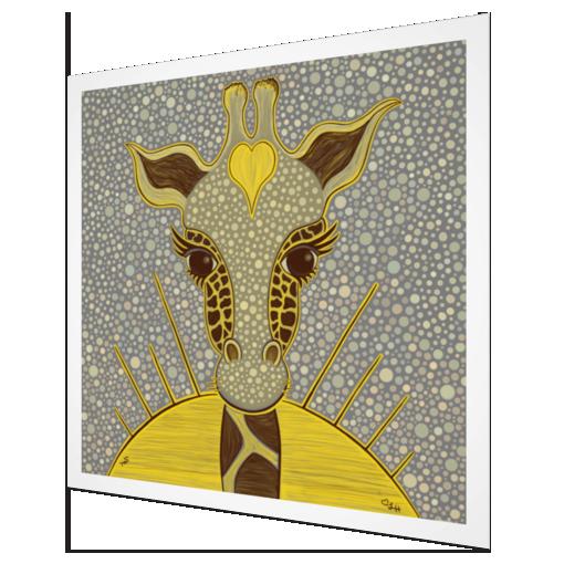 Taylor Swope Love Giraffe Art Print