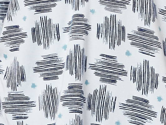 This is J hatch light blue bamboo fabric.