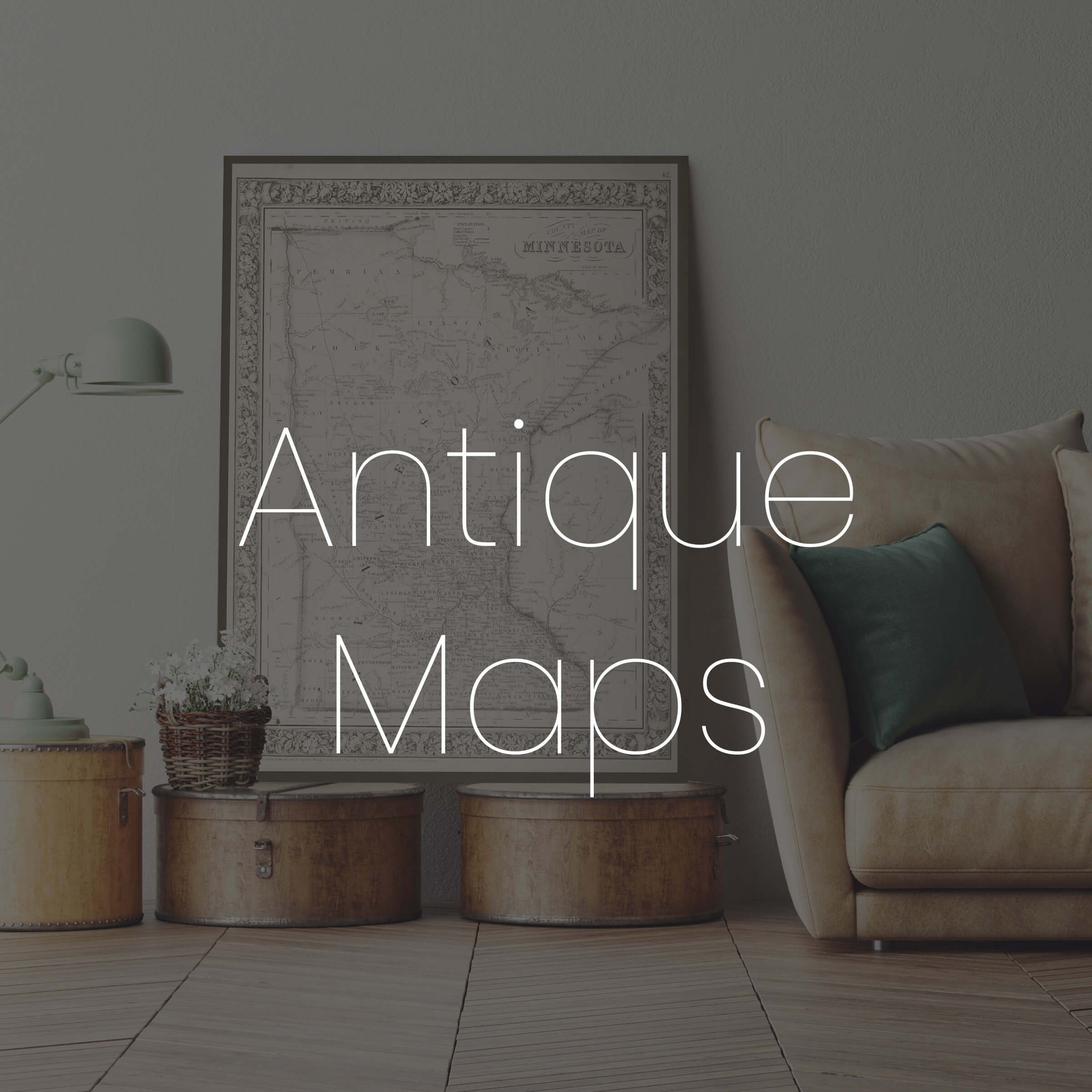 Maps add a trendy travel themed feel to any room!