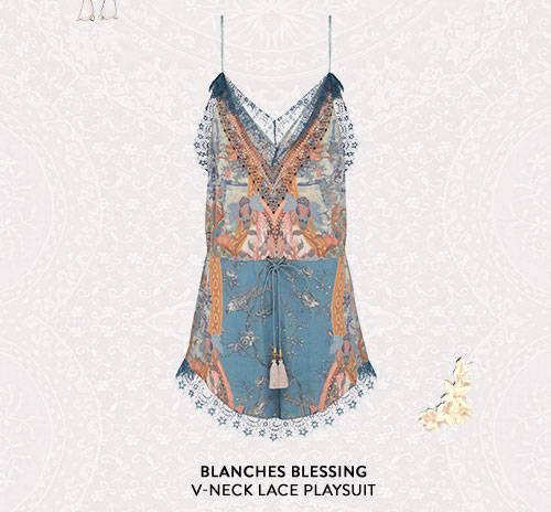 Blanches Blessing V-neck Lace Playsuit