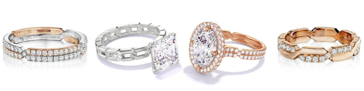 engagement ring and wedding band pairings