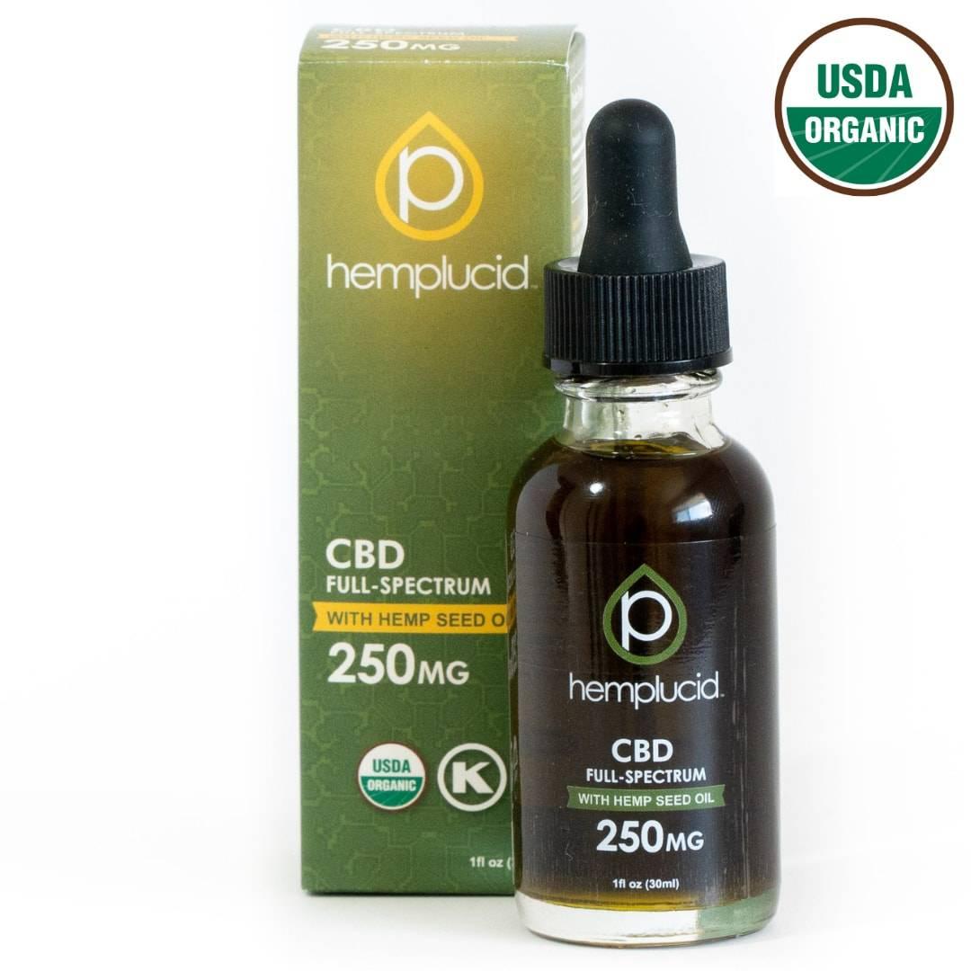 USDA Organic Full-Spectrum CBD in Hemp Seed Oil
