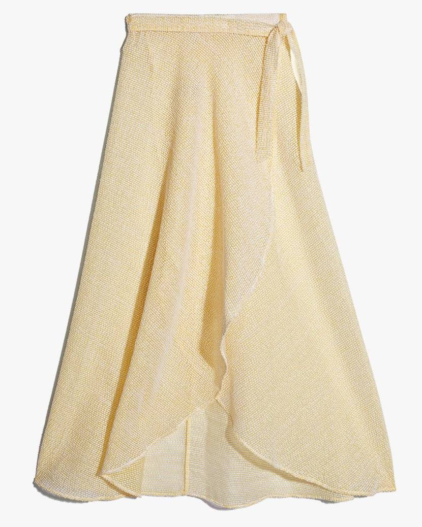 Amanda Brushed Mesh Wrap Skirt