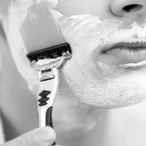Shaving with a Disposable Razor