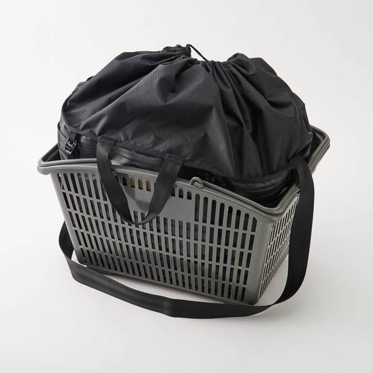 AS2OV(アッソブ)/ポータブル ラージエコバッグ/ブラック