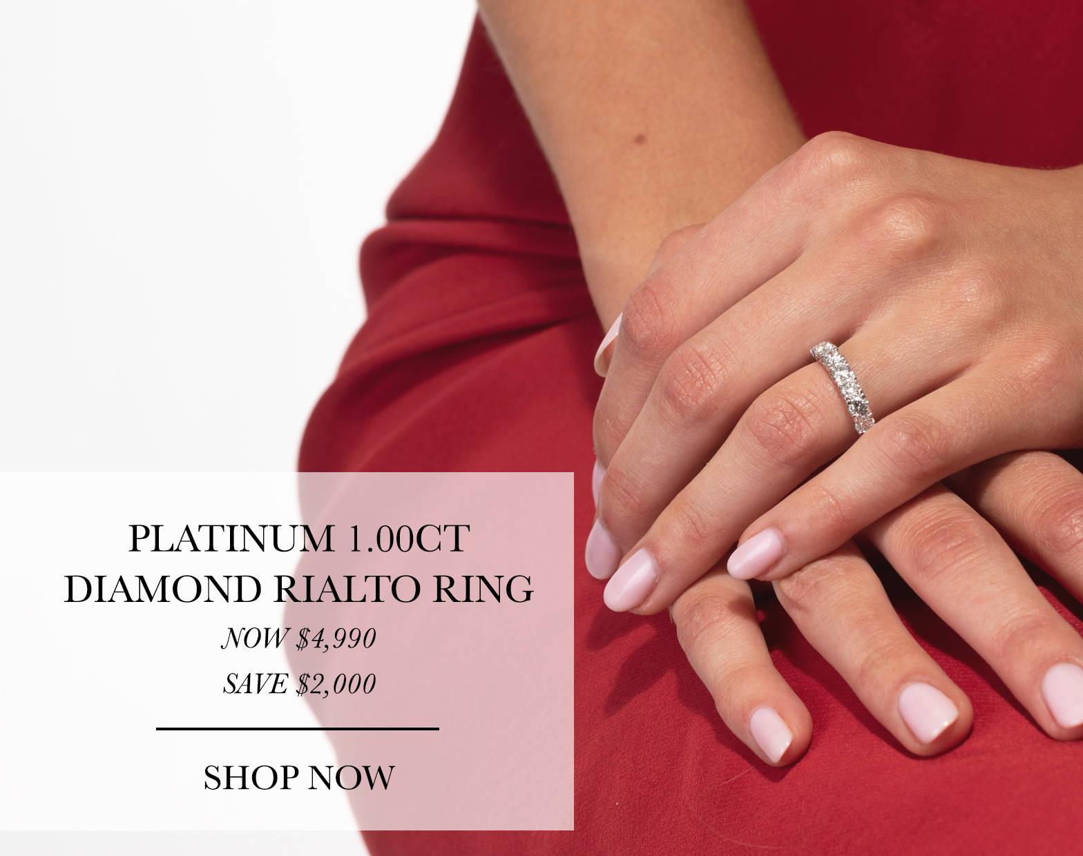 Platinum Rialto Ring