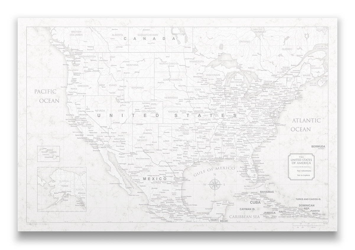 Conquest Maps Classic Marble USA