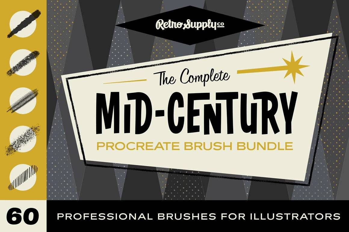 The Mid-Century Procreate Brush Bundle