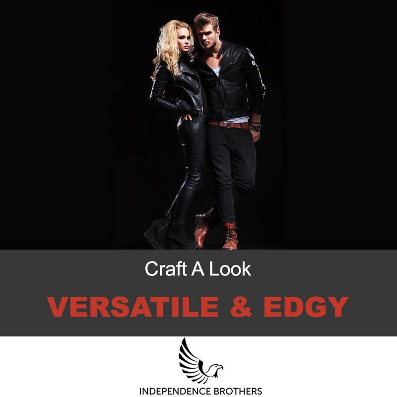 Versatile leather jacket look