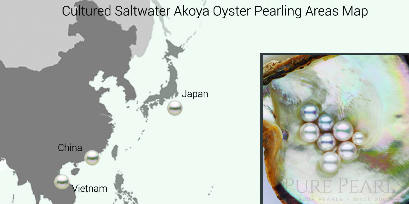 Farming for Cultured Akoya Pearls Are Map