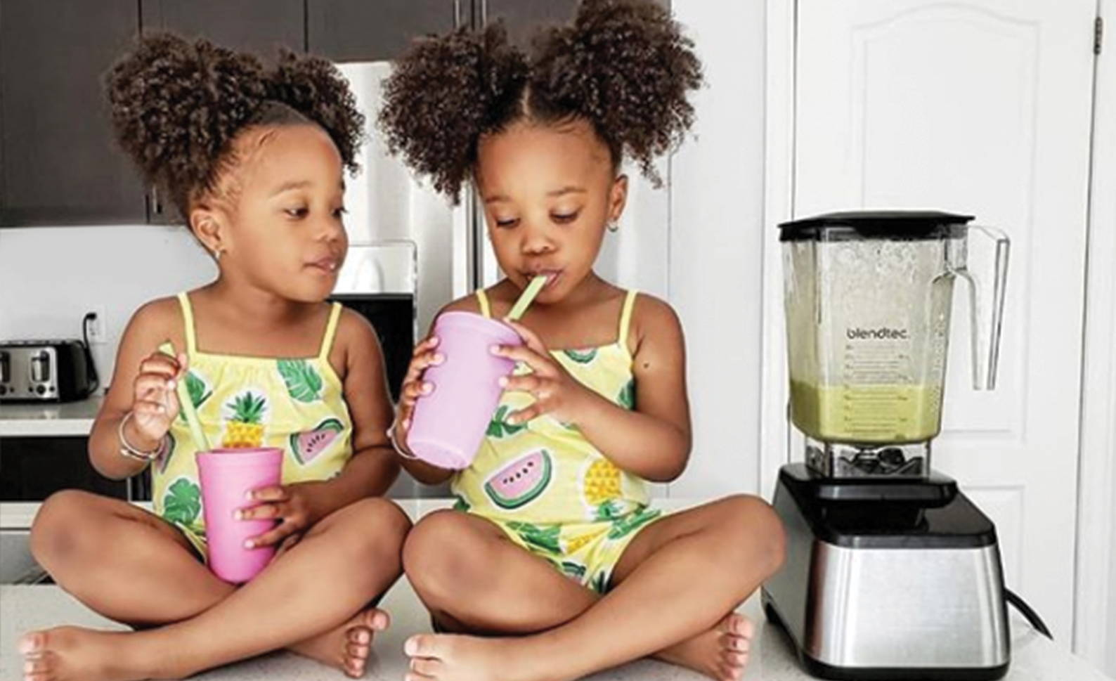 Girls Drinking Smoothie