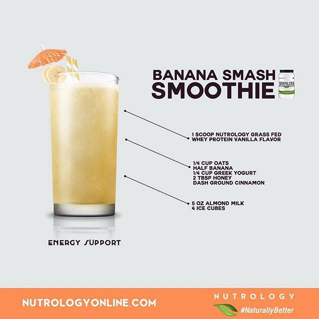 Nutrology Banana Smash Smoothie Recipe