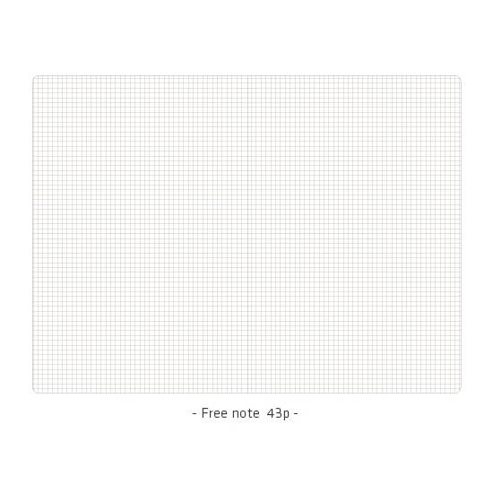 Free(grid) note - Ardium 2020 Simple small dated weekly diary planner