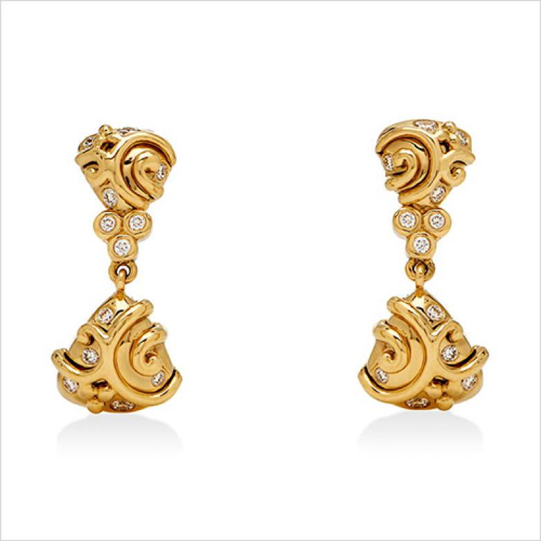 Double Whirlpool Earrings
