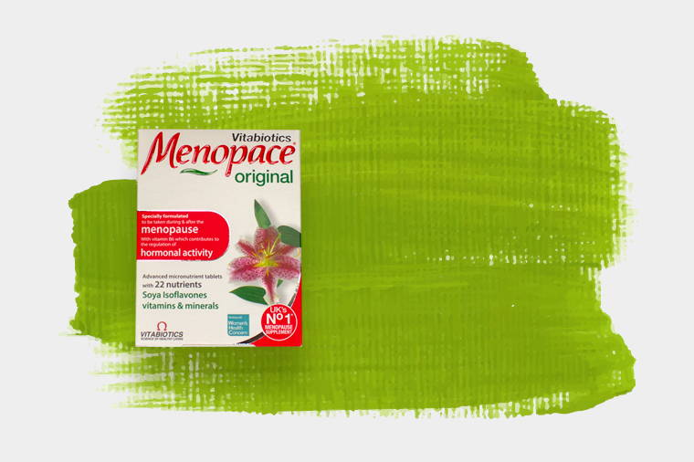 Menopace Product On Green Background