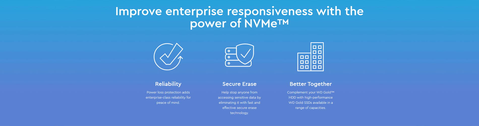 Improve enterprise responsiveness with the power of NVMe