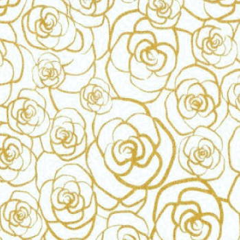 Sorority Gold And White Fabric