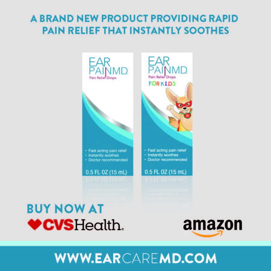 Ear Pain MD and Ear Pain MD Kids Earache drops and ear infection relief drops Tear Pad for Professionals.