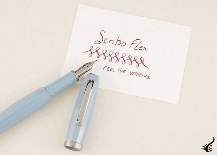 Estilográfica Scribo Feel, Azul, Rutenio, Plumín Flex, FEEFP03RT1403