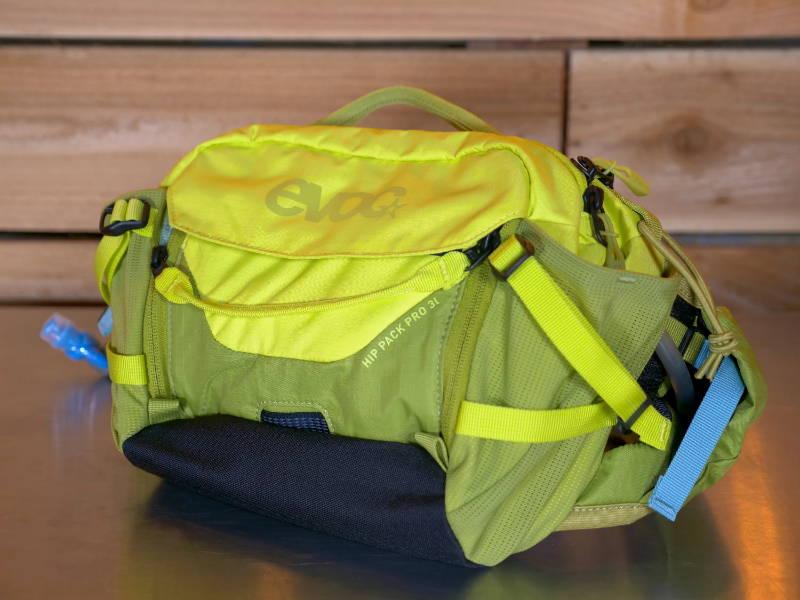 evoc hip packs fann pack pouch race pro 3l 3 liter red loam yellow bladder water enduro