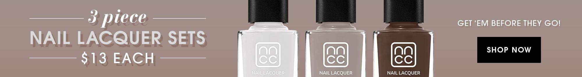 3 piece nail lacquer sets