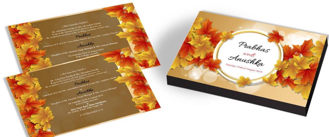 Rustic Fall Marriage Invitations