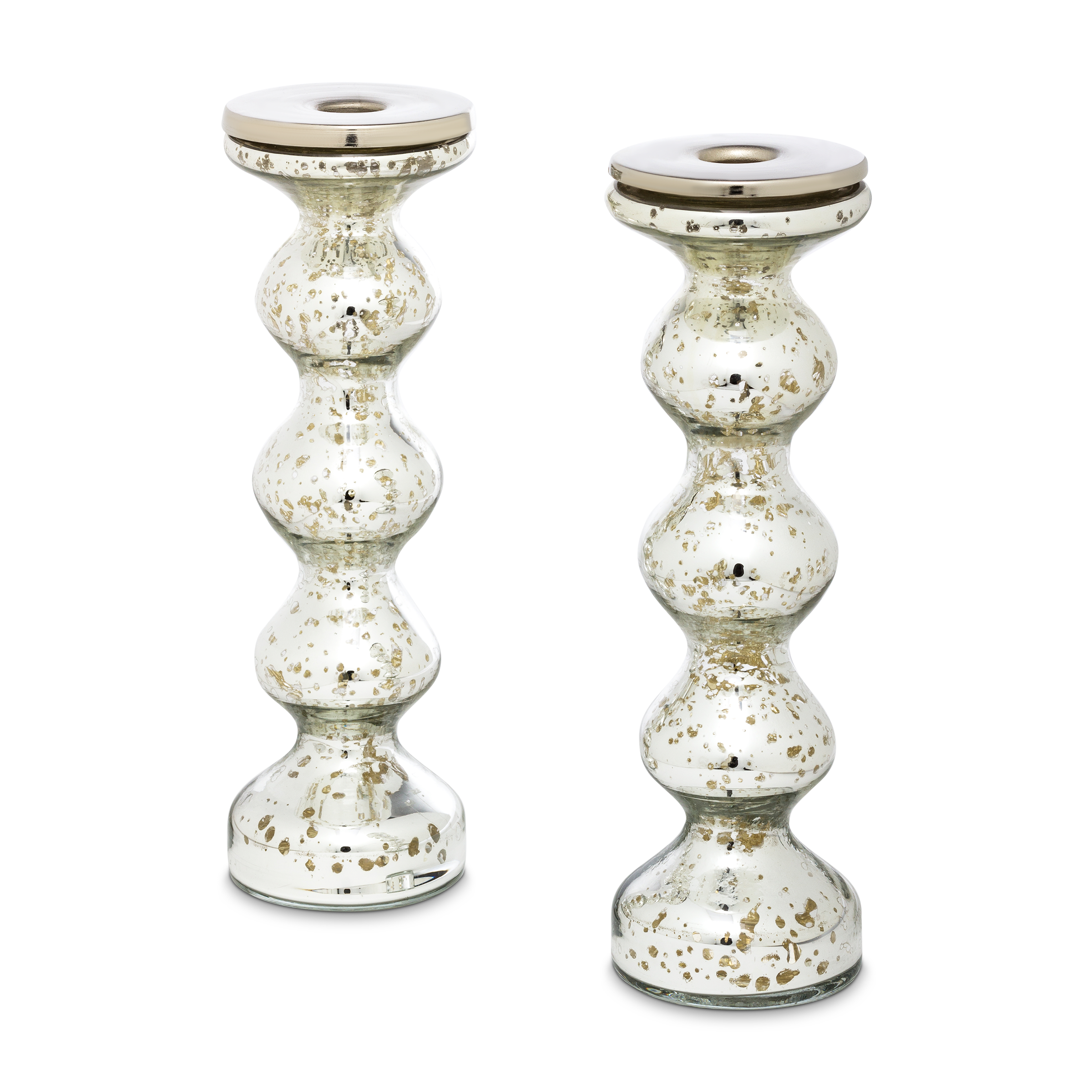 Silvered Candlesticks