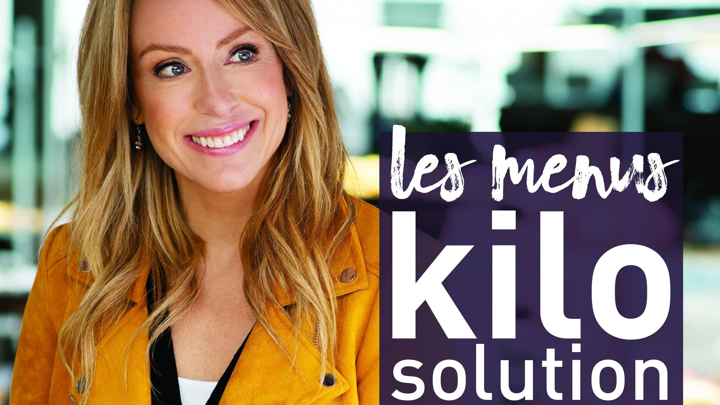 Livre menus kilo solution de Isabelle Huot, dans un article du Huffington Post
