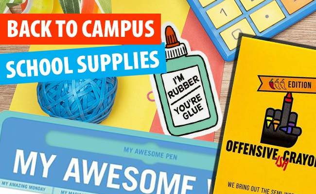 Fun and Unusual Back to School  or Campus Supplies.
