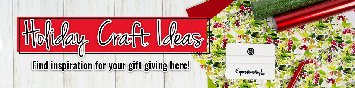 banner for holiday craft ideas with vinyl
