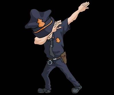 Dabbing Cop