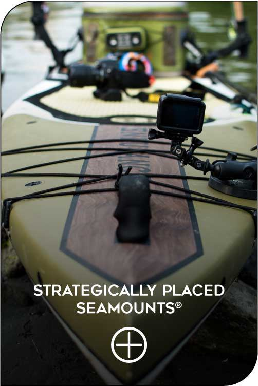 Stand up paddleboard strategically placed seamount system feature