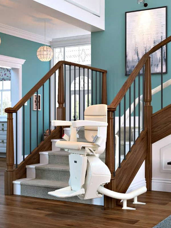 Curve stair lift Handicare Freecurve Elegance chair by VIVA Mobility