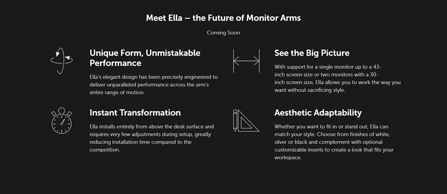 Innovative Ella Dual and Single Articulation Monitor Arm