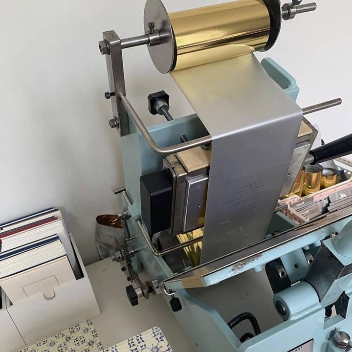 A foil press.