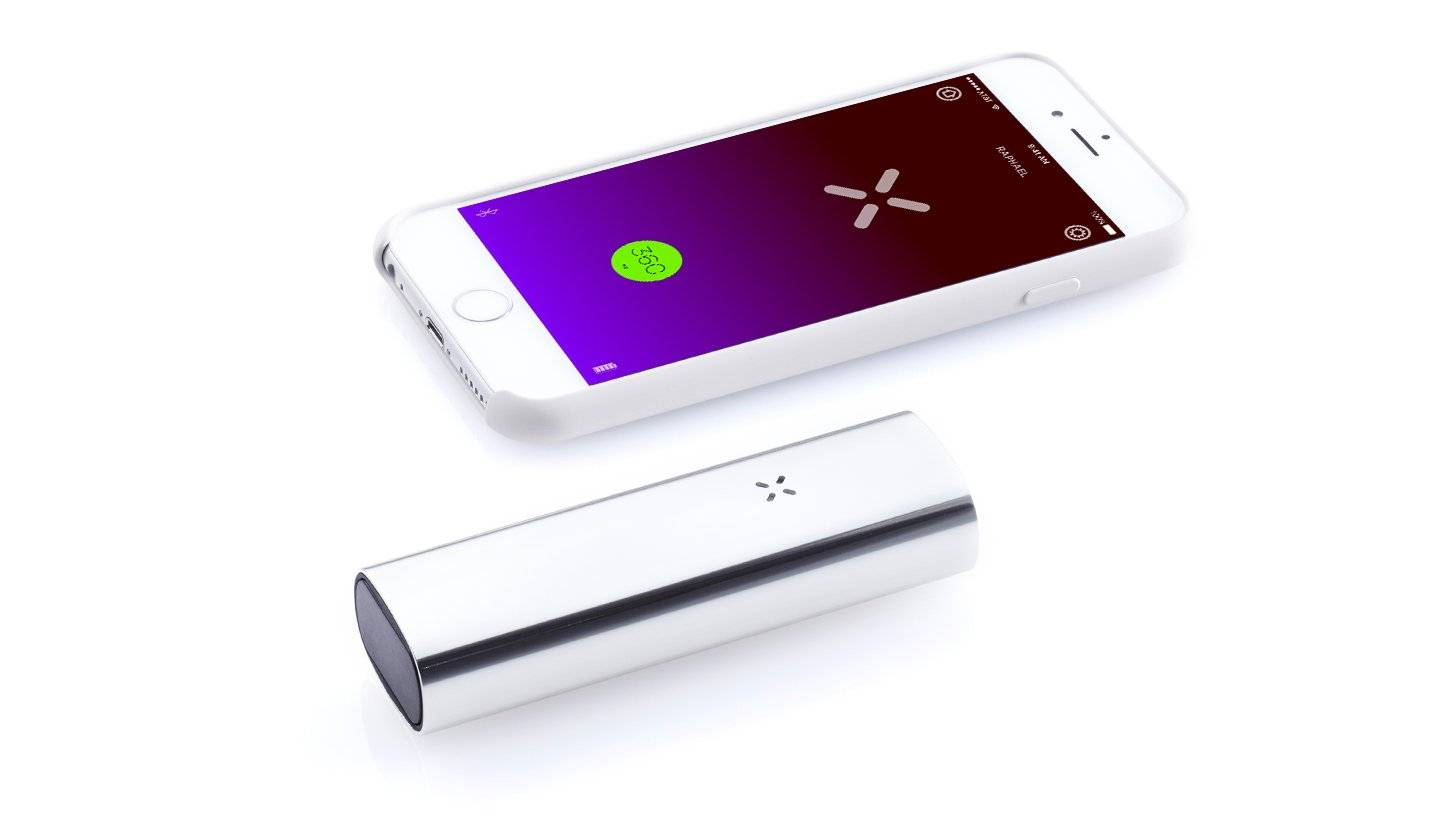 Silver PAX 3 with iOS smartphone app