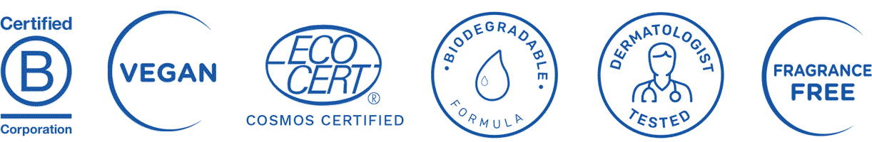 Mustela Seals and Certifications - B-Corp Vegan Fragrance Free